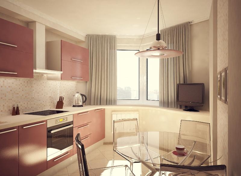 Дизайн кухни в двушке п44т