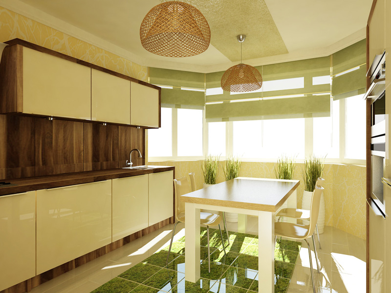 Дизайн кухни п 44т фото