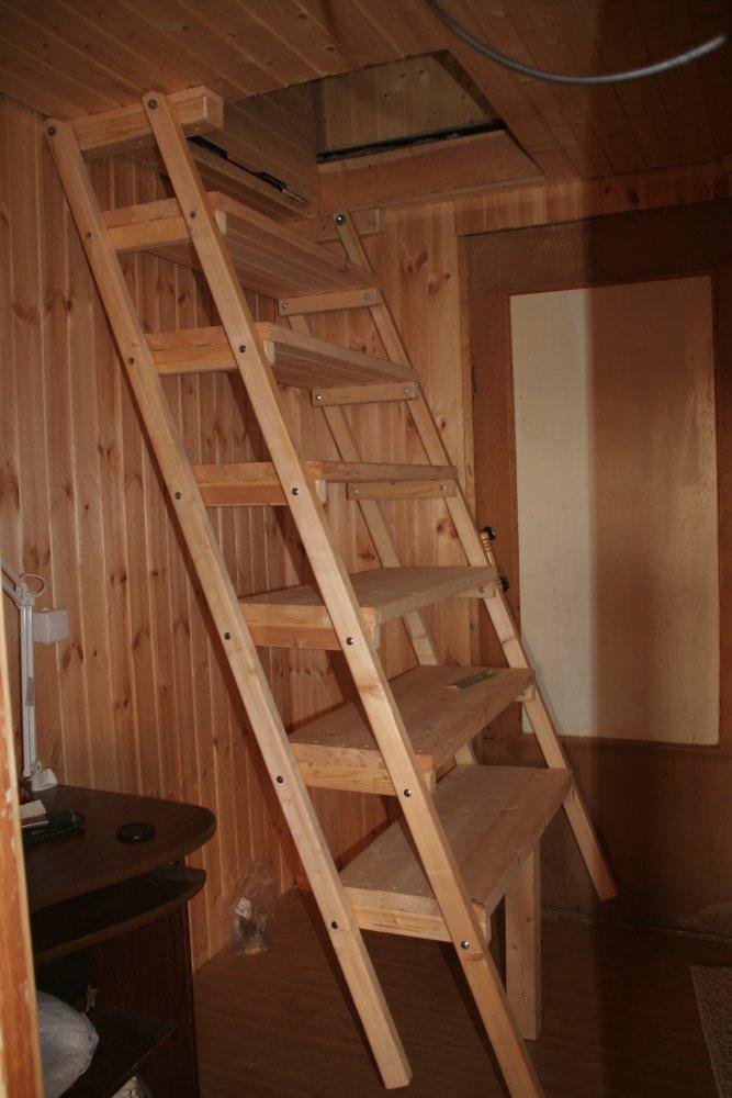 Простая лестница на второй этаж для дачи своими руками 38