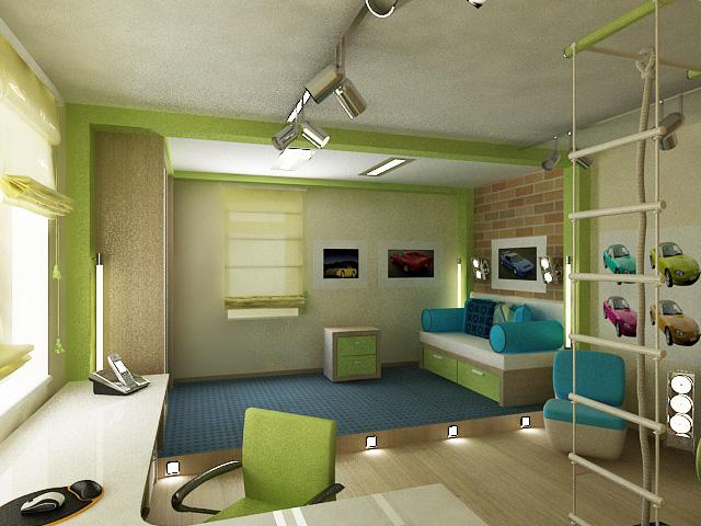 Дизайн детской комнаты для мальчиков 15 кв.м